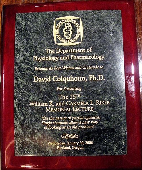 Riker lecture plaque